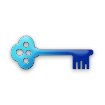 078568 blue jelly icon business key9